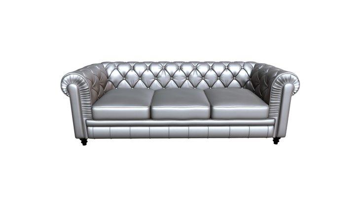 Aristocrat Sofa Silver - 900112 3D Model