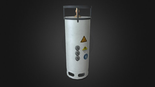 Lab Chemical Container 3D Model
