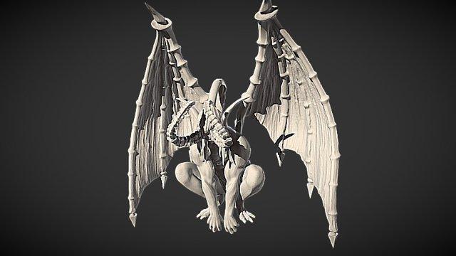 Gargoyle Illidan 3D Model