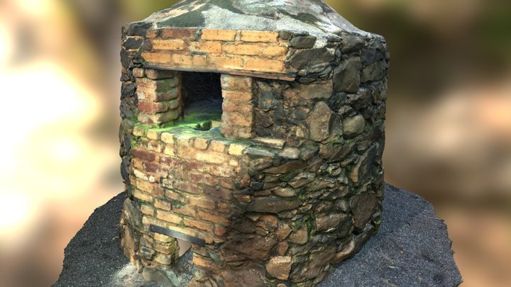 Traditional Portuguese Oven c.1920 3D Model