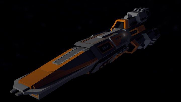 Raptor-Class Fast Attack Cruiser 3D Model