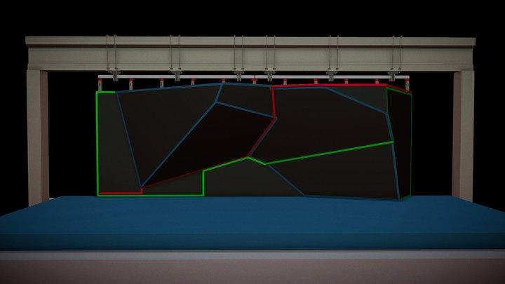 Bouldering Fluorescent 3D Model