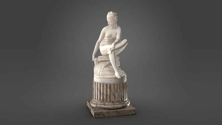 Bather seated 3D Model