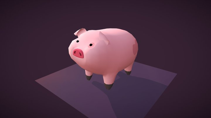 Mr Waddles (Gravity Falls) *__* 3D Model