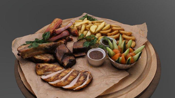 Meat Set_rebr 3D Model