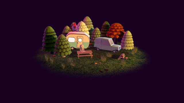 Trip to the Woods 3D Model