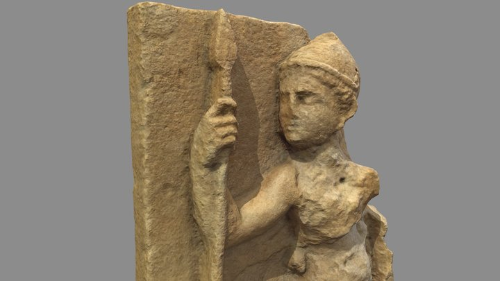 Etruscan warrior statue (reprocessed) 3D Model