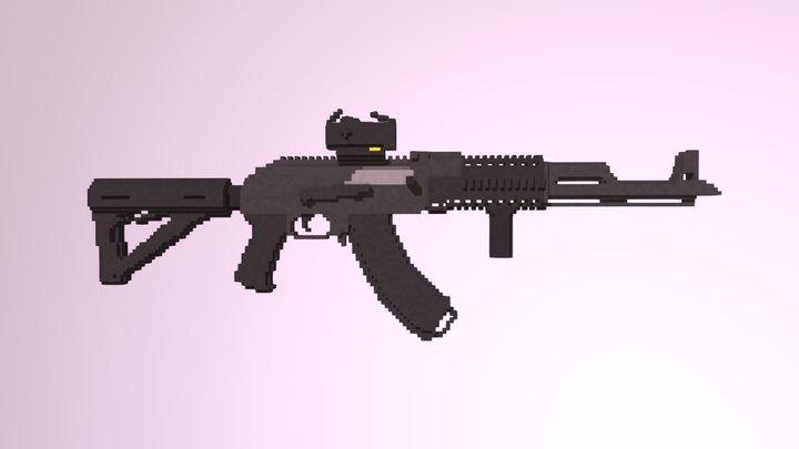AKMN, Modded. 3D Model