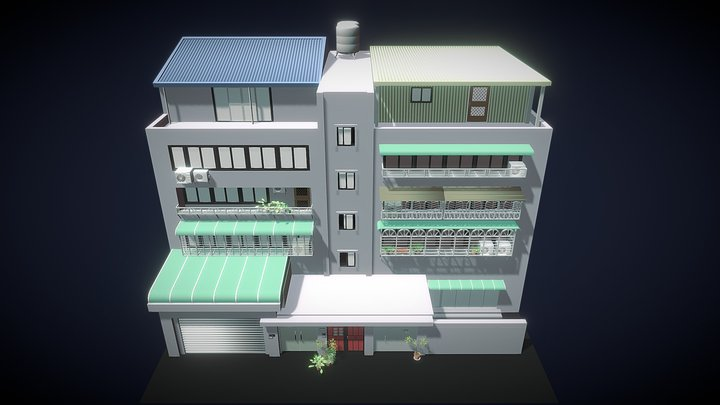 Old Apartment-1 3D Model