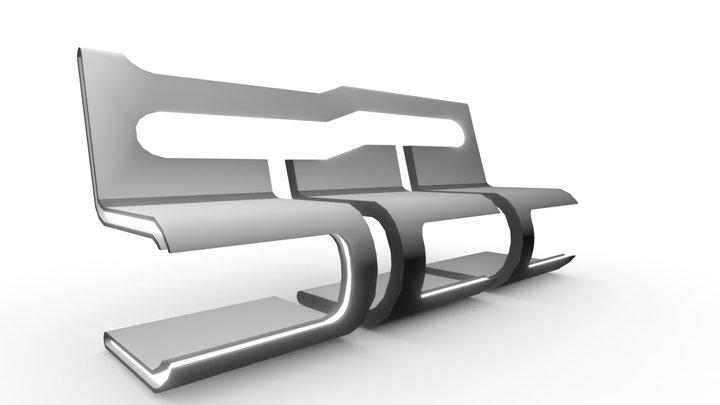 Future Bench 3D Model