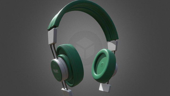 Vintage Headphones 3D Model