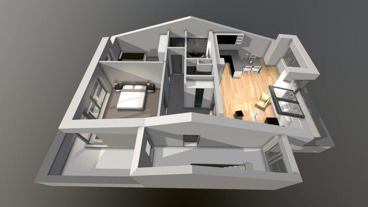 Byt Podkrovi A 3D Model