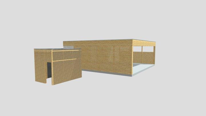 carport mit anbau.xml 3D Model