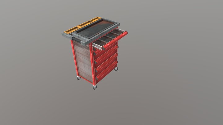Mechanics Tool Chest with Top Box 3D Model