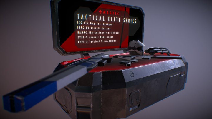 Tactical Elite Series - Weapon and Armor Diorama 3D Model