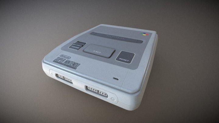 Old Super Nintendo 3D Model