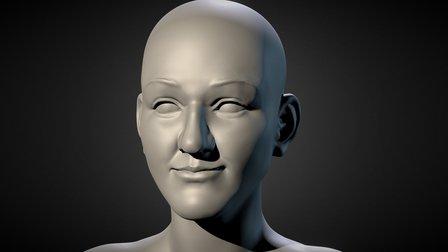 Bust#1 Anderson Gaston 3D Model
