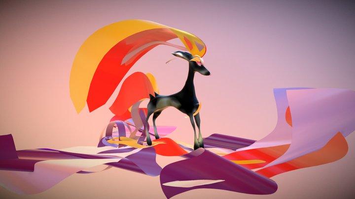 Chrome Deer[like] 3D Model