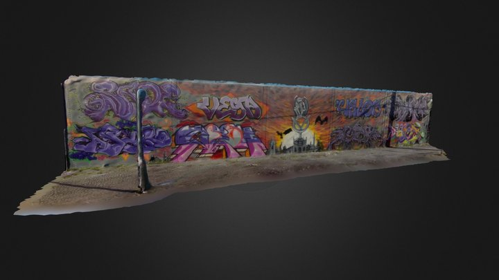 Wall fo Graffiti (video to mesh) 2 3D Model