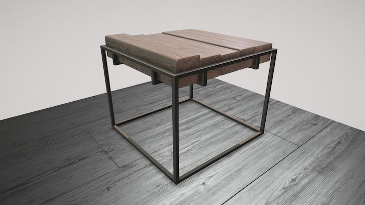 Muir Side Table 3D Model