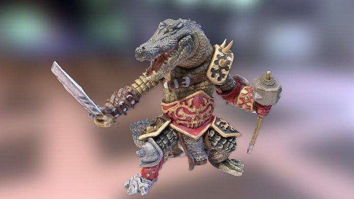 (NVA) Crocodile Warrior 3D Model