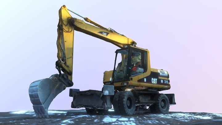 Cat Excavator - Drone 3D scan 3D Model