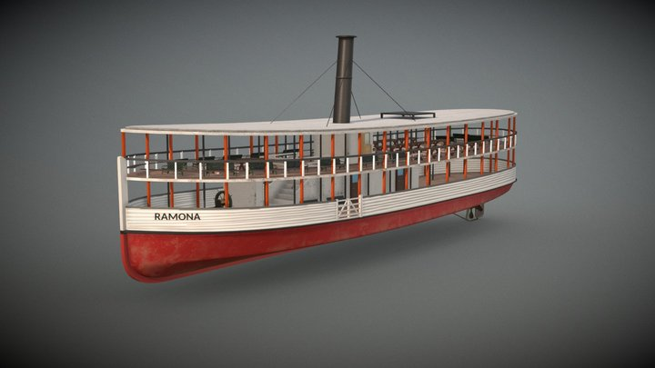 Ramona Steam boat 3D Model