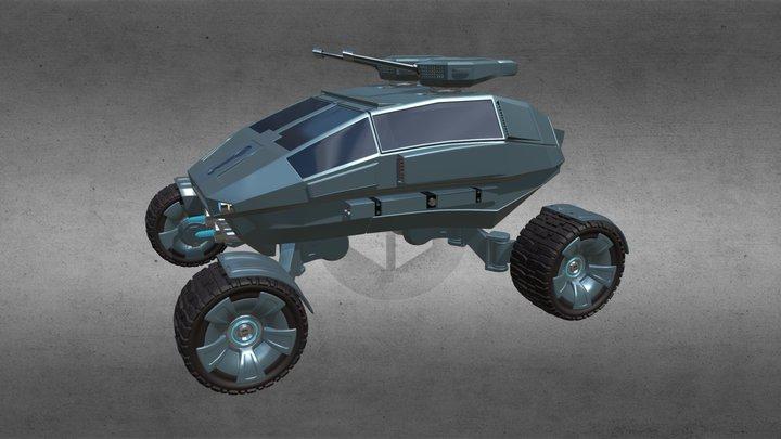 Alien Combat Buggy For AS 3D Model