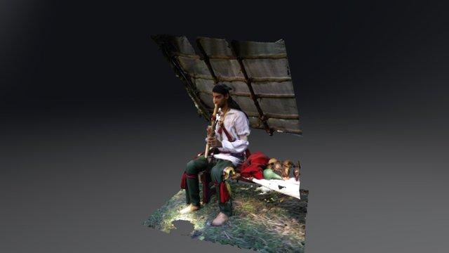 Talon Silverhorn, Shawnee. 3D Model