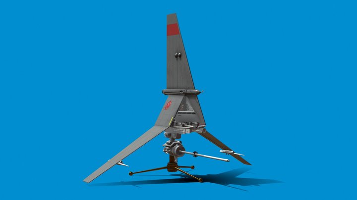 Star Wars - Luke's T-16 skyhopper 3D Model
