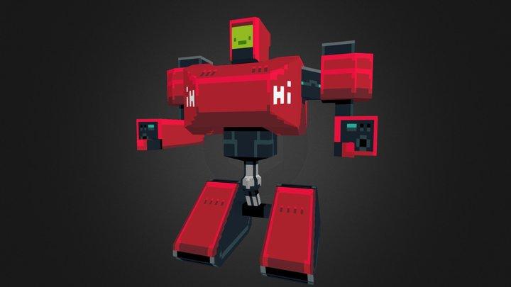 LowPoly Hi-Bot 3D Model