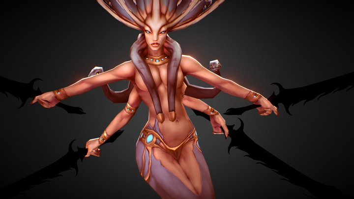 Lady Naga 3D Model