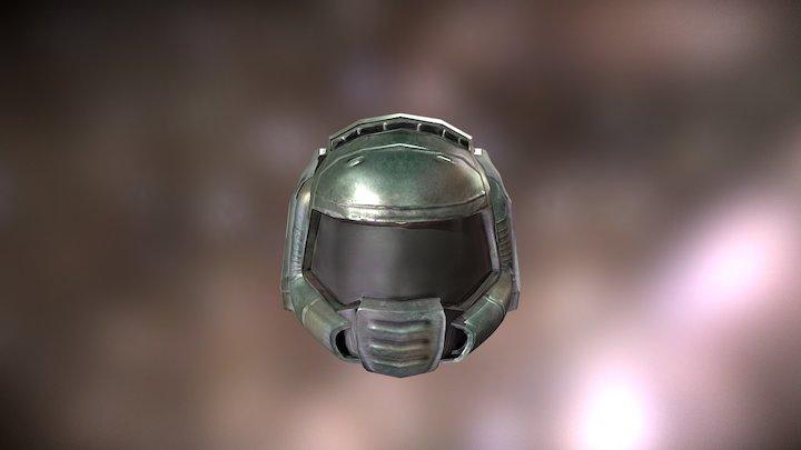 doom slayer helmet 3d model