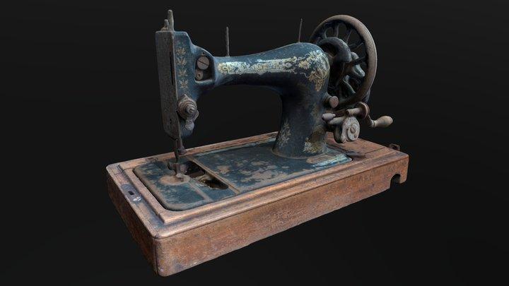 "Photogrammetry - Sewing machine ""Singer"" ~1907 3D Model"