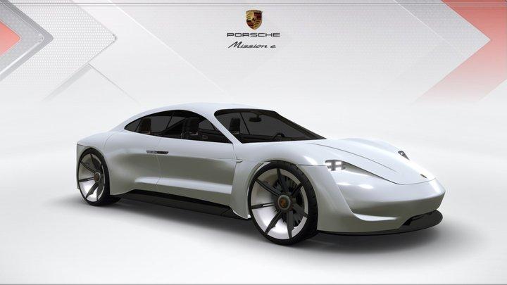 Porsche Mission E 3D Model