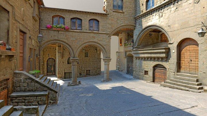 Piazza San Pellegrino (Viterbo) a.D.1100 3D Model