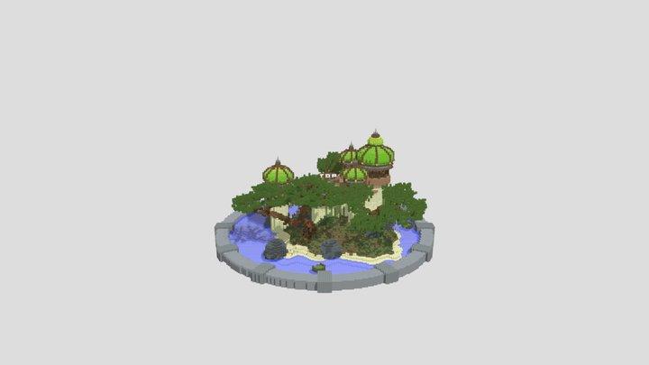 Green Domed Hub 3D Model
