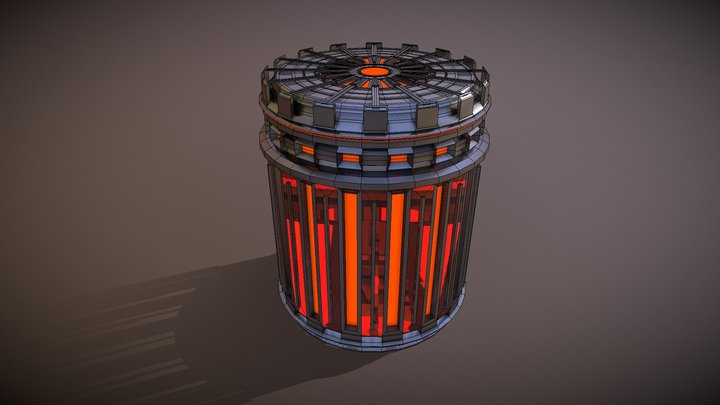 Sci-fi Fuel Cell Canister 3D Model