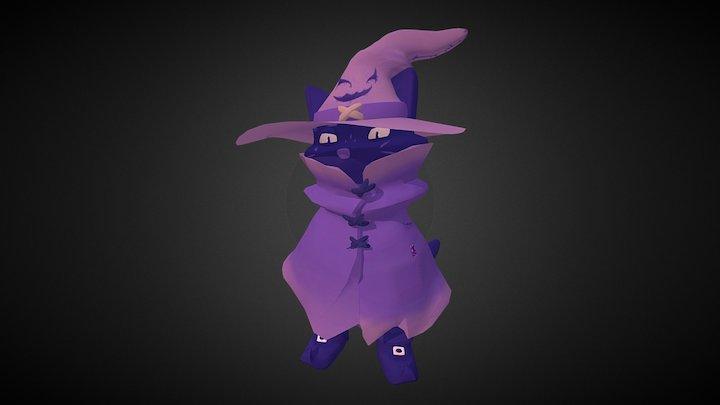 "Zau ""Cat Wizard"" 3D Model"