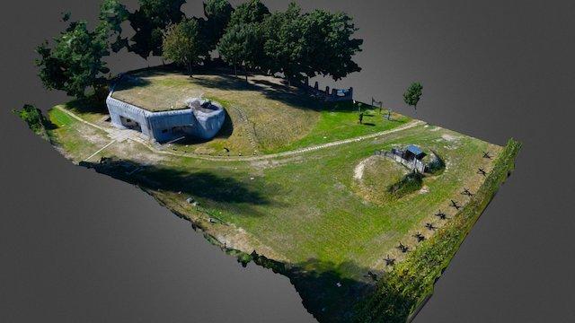 Bunker BS8 Hřbitov 3D Model