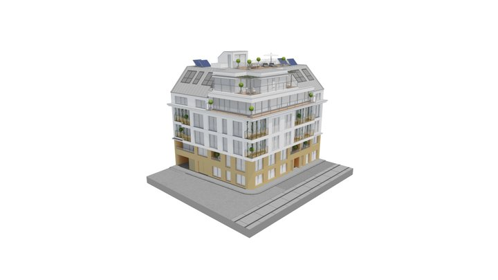 Die Goldene Eule 3D Model