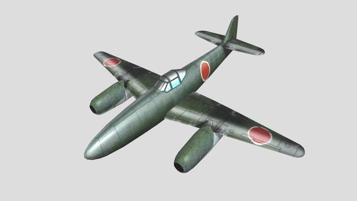 Nakajima Kikka Japanese Warjet Low Poly Asset 3D Model