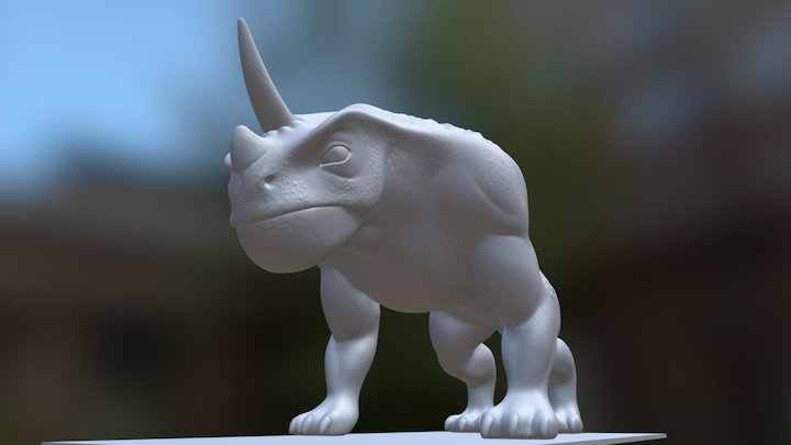 Rhino Monster 3D Model