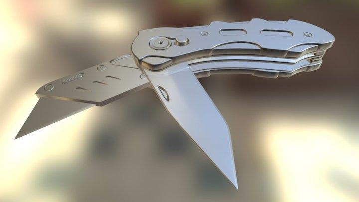 Clean Mesh Saxo Knife 3D Model