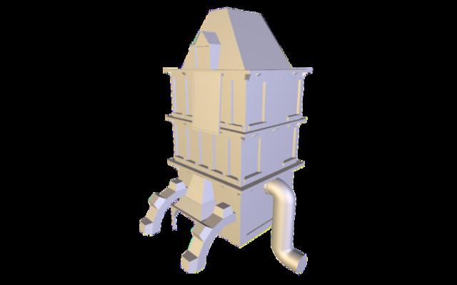 Batiment 1 3D Model