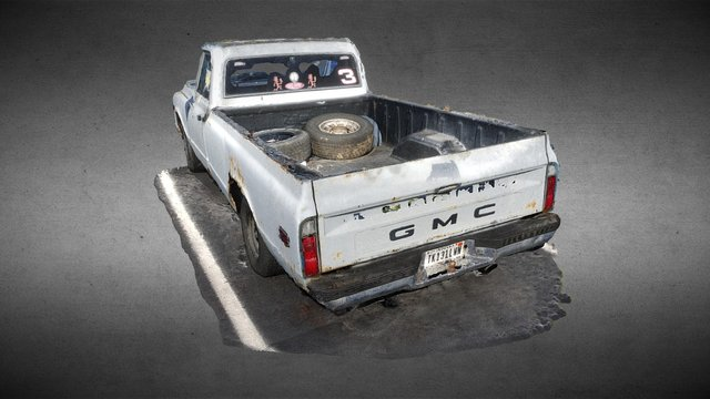 Old GMC truck 3D Model