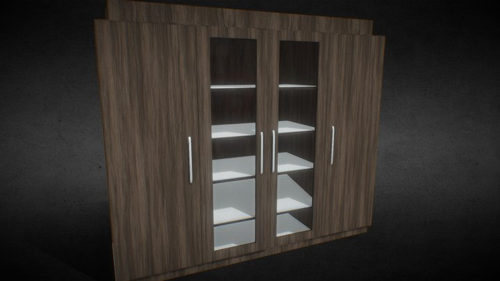 Game Ready Animated Closet - Built In 3D Model