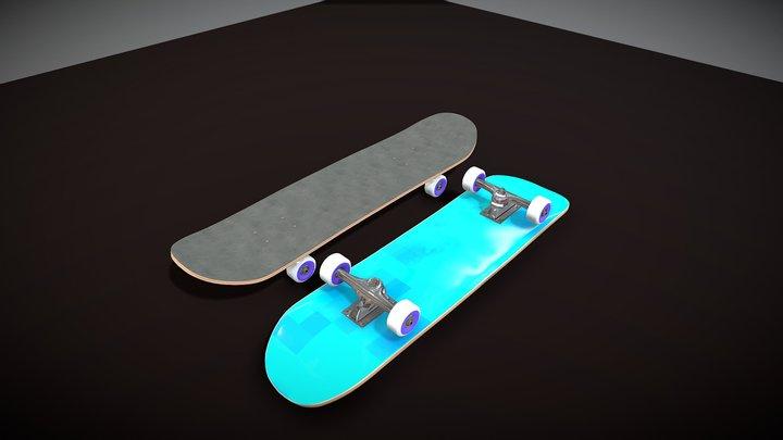 Skateboard Water Texture #SkateboardChallenge 3D Model
