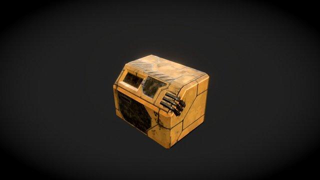 Basic Sci-Fi Crate 3D Model