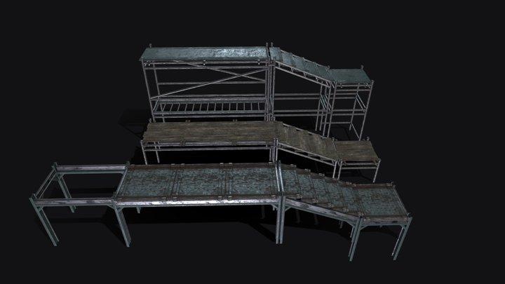 Industrial Set - Scaffolding 3D Model